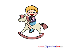 Horse with Child Pics free Illustration