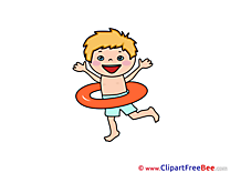 Lifebuoy Boy Clipart free Illustrations