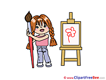 Painter Child Pics free download Image
