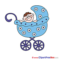 Pram Baby free printable Cliparts and Images