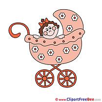 Pram with Baby Pics free download Image
