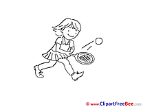 Tennis Girl free Illustration download