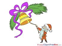 Bell Santa Claus Pics Christmas free Image