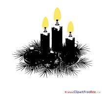 Black Candles free Illustration Christmas
