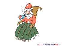 Chair Santa Claus Christmas Illustrations for free