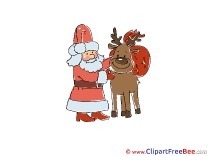 Cliparts Deer Santa Christmas for free