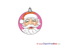Head of Santa download Clipart Christmas Cliparts