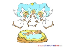 Jesus Angels free Cliparts Christmas