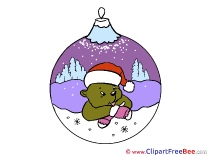 Purple Ball Bear Clip Art download Christmas