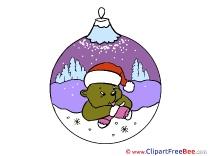 Purple Ball Bear Clip Art download Christmas