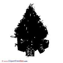 Silhouette Tree Pics Christmas Illustration