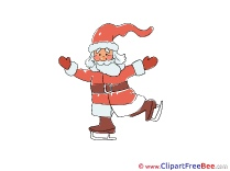 Skates Santa Claus download Clipart Christmas Cliparts