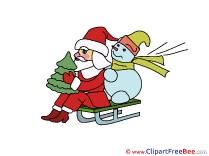 Sleigh printable Christmas Images