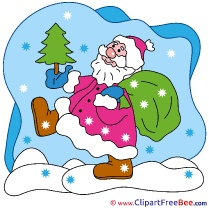 Snow Santa Claus Christmas Clip Art for free