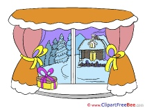Window Present printable Christmas Images