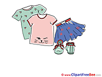 Blue Skirt Boots T-shirts download Clip Art for free