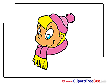 Child Scarf Hat Clipart free Image download