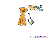 Dress Handbag Hat download Clip Art for free