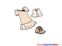 Dress Skirt Shoes Clipart free Illustrations