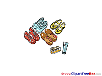 Footwear Shoes Cliparts printable for free