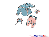 Kids Clothes Hat Pants free printable Cliparts and Images