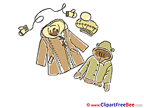 Winter Clothes download printable Illustrations
