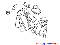 Winter Clothing  Coats Clip Art download for free
