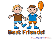 Boys Balloon Cliparts Best Friends for free