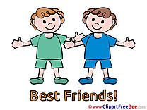 Boys free Illustration Best Friends