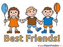 Girl Boys Children free Cliparts Best Friends