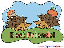 Hedgehogs Apple Mushroom Clip Art download Best Friends