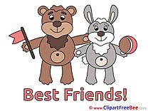 Rabbit Bear download Best Friends Illustrations