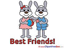 Rabbits Pics Best Friends  free Image
