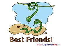 Snakes Best Friends download Illustration