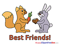 Squirrel Rabbit Best Friends Illustrations for free