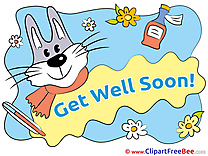 Bunny printable Get Well Soon Images