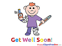 Child Boy Get Well Soon Illustrations for free