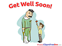 Father Boy Rose download Clipart Get Well Soon Cliparts