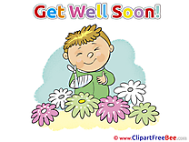 Flowers Boy Get Well Soon download Illustration