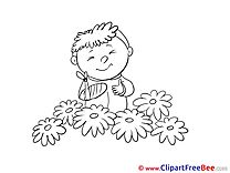 Flowers Boy Pics Get Well Soon free Cliparts