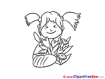 Flowers Girl Get Well Soon download Illustration