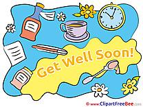 Get Well Soon Clock Pills Medicine free Illustration