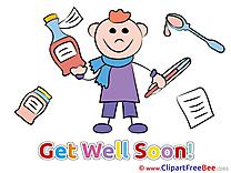 Image Boy Get Well Soon download Illustration