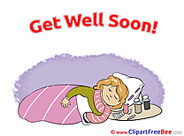 Image Girl Medicine Get Well Soon Clip Art for free