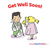 Kids Boy Girl free Cliparts Get Well Soon