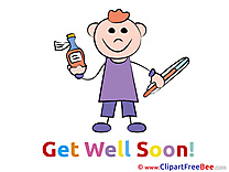 Little Boy Thermometer download Clipart Get Well Soon Cliparts