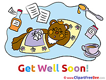 Picture Medicine Bear Get Well Soon free Images download