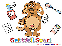 Puppy Pills Medicine Clipart Get Well Soon free Images