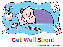 Thermometer Boy Pills printable Get Well Soon Images