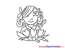 Woman Bouquet Clip Art download Get Well Soon
